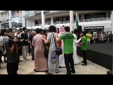 Saudi Arabia National day celebrating, Malaysia Limkokwing university of creative technolgoy