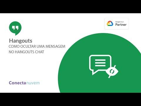 Como ocultar uma mensagem no Hangouts Chat