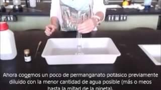 Agua oxigenada y permanganato de potasio
