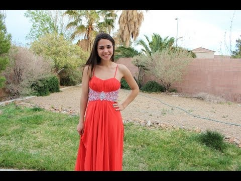 Prom Series: Red Orange Dress& Bra Tips for Prom + Dress GIVEAWAY ...