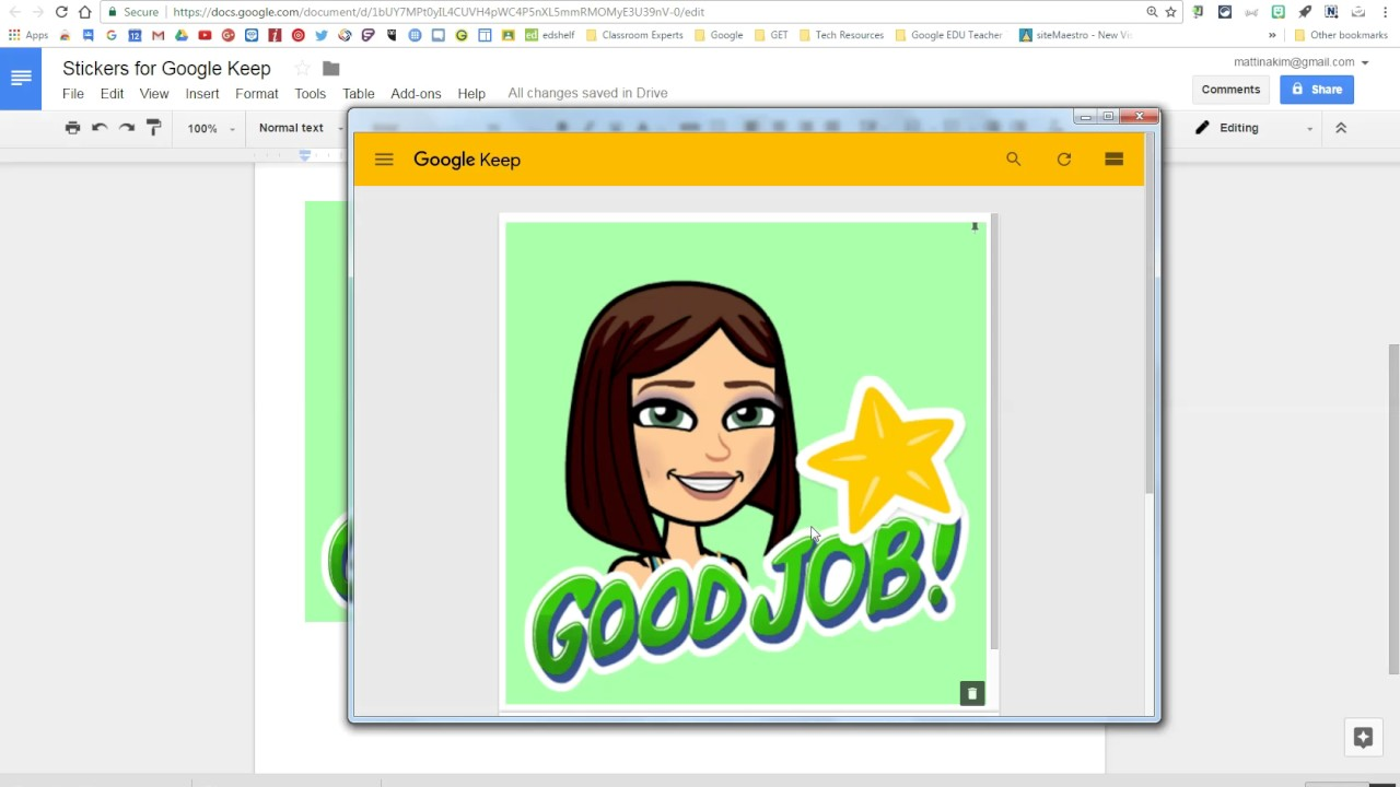 How To Add Digital Stickers In Google Classroom Google Search Google Keep Digital Sticker Google Classroom