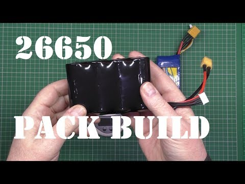 26650 Li-Ion battery pack build instructions and capacity test