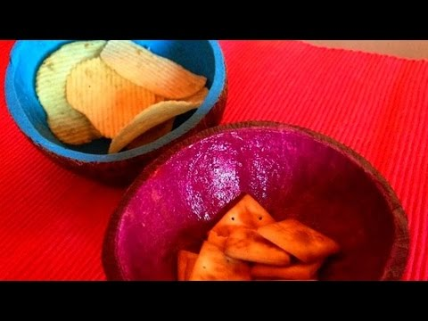 How To Recycle A Coconut Shell Into A Colorful Bowl - DIY Home Tutorial - Guidecentral