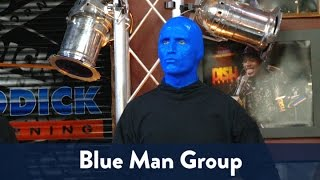 Blue Man Group performs