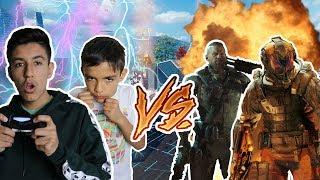 Black Ops 3 Crazy Veteran Bot Challenge With Little Brother! (1v18)