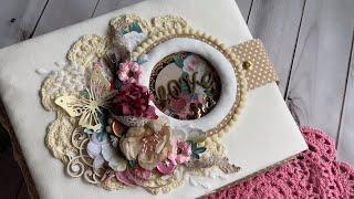 Скрапбукинг: Цветочный альбом на годовщину свадьбы / Floral wedding anniversary album