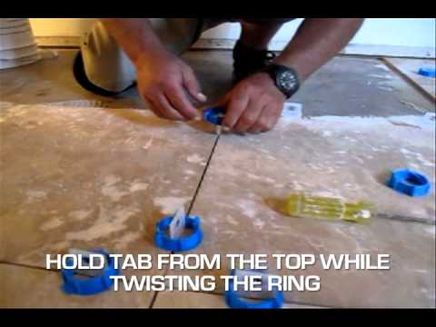 How To Set Level Tiles On Floor Or Wall Troxell Twister Tile Leveling
