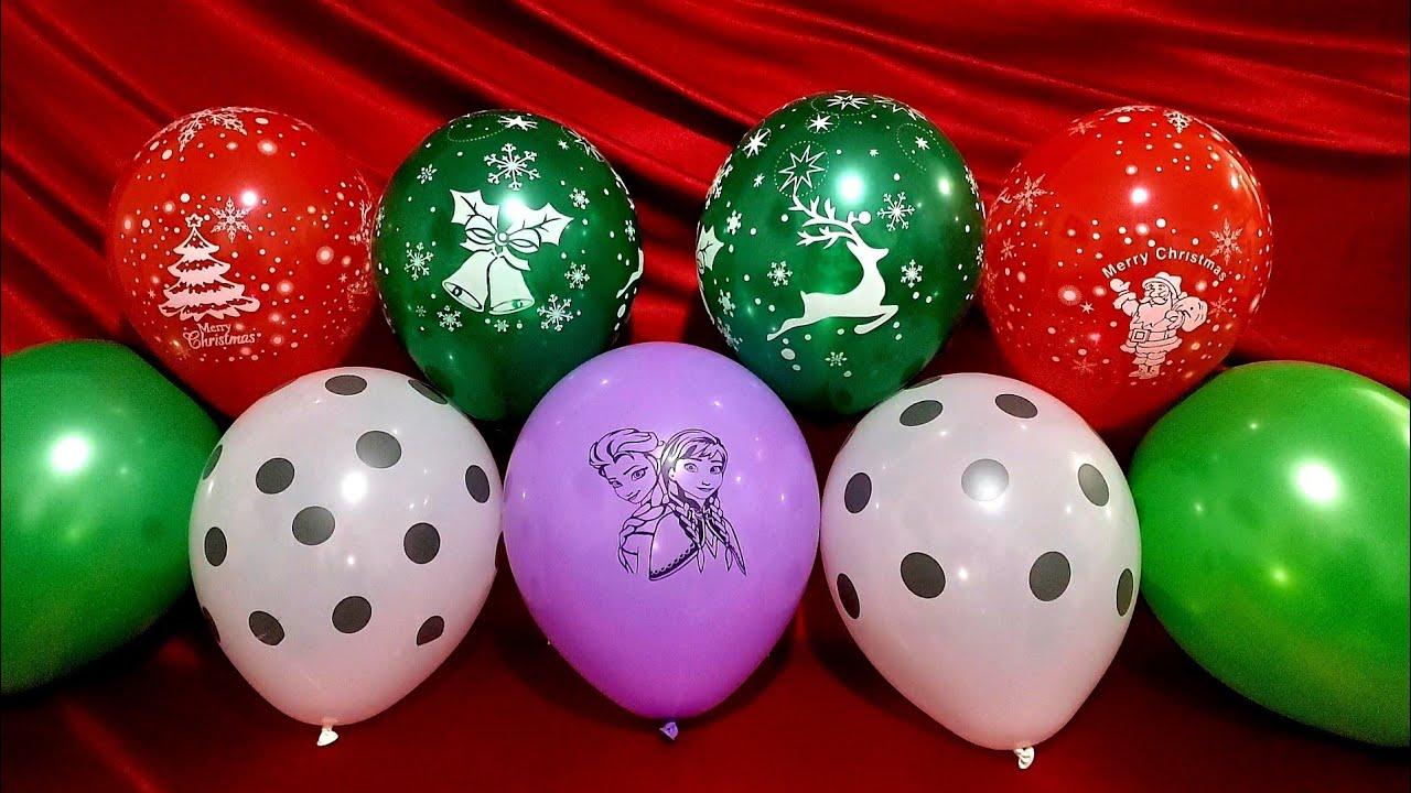 FUN PRINCESS ELSA ANNA FROZEN CHRISTMAS BALLOONS POP!!!