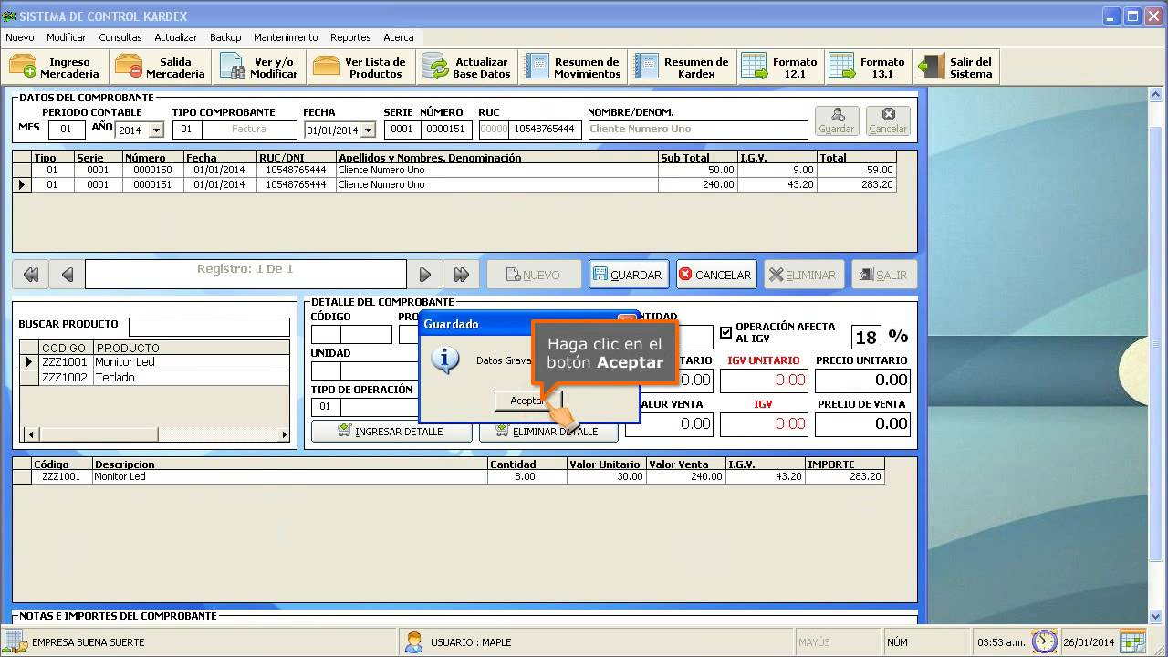 01754d296 Sistema Control de Inventario - Kardex - Stock Software Facil Manejo -  YouTube