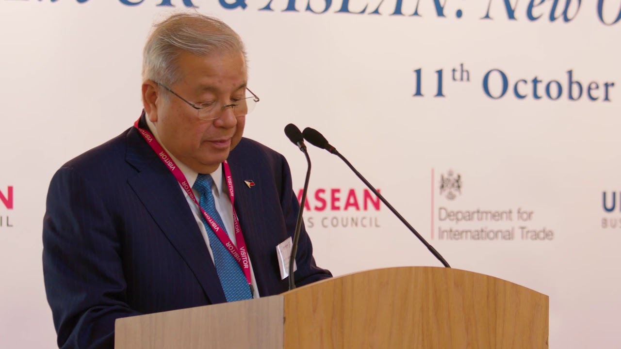 ASEAN@50 Business Forum: Antonio M Lagdameo, Ambassador of the Philippines  to the UK