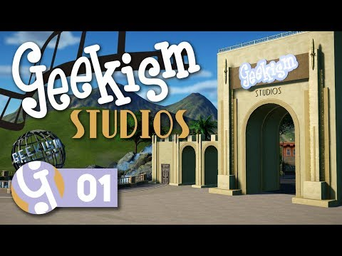 🎬 Lights, Camera... Action! | Geekism Studios | Let's Play Planet Coaster #01