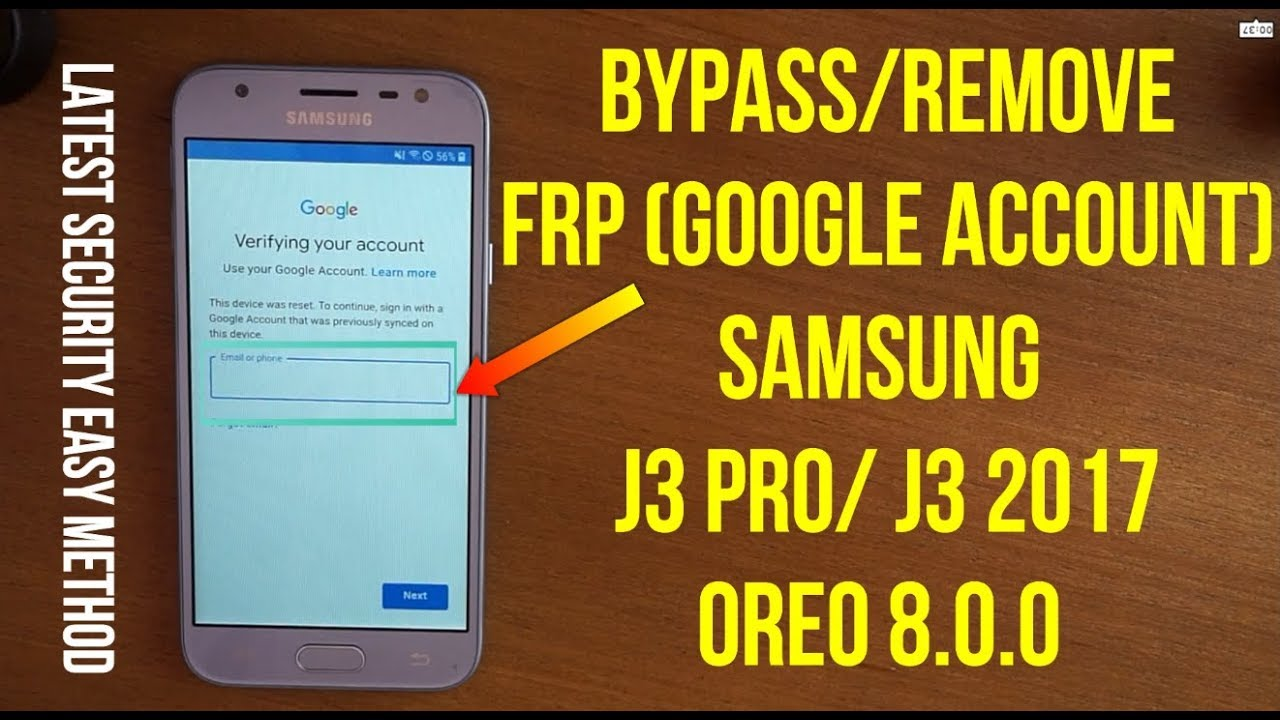 Bypass Frp google account samsung j3 pro (j3 2017) oreo 8 0 without pc