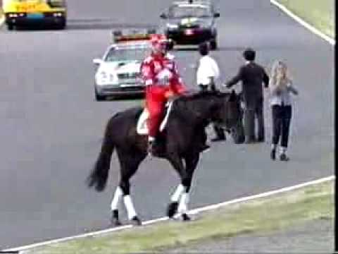 Schumi on a horse
