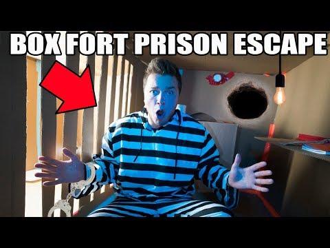 24 HOUR BOX FORT PRISON ESCAPE!!