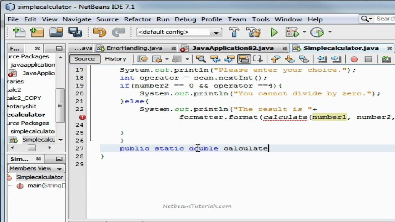 Java tutorial calculator choice image graphic design tutorials free.