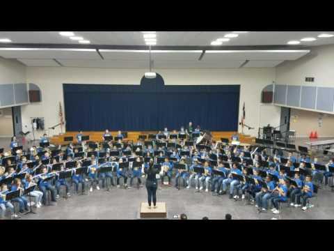 "Labay Middle School Beginning Band performs ""Firestorm"""