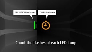 How to count the LED lamp flashing / Wall mounted | Fujitsu General