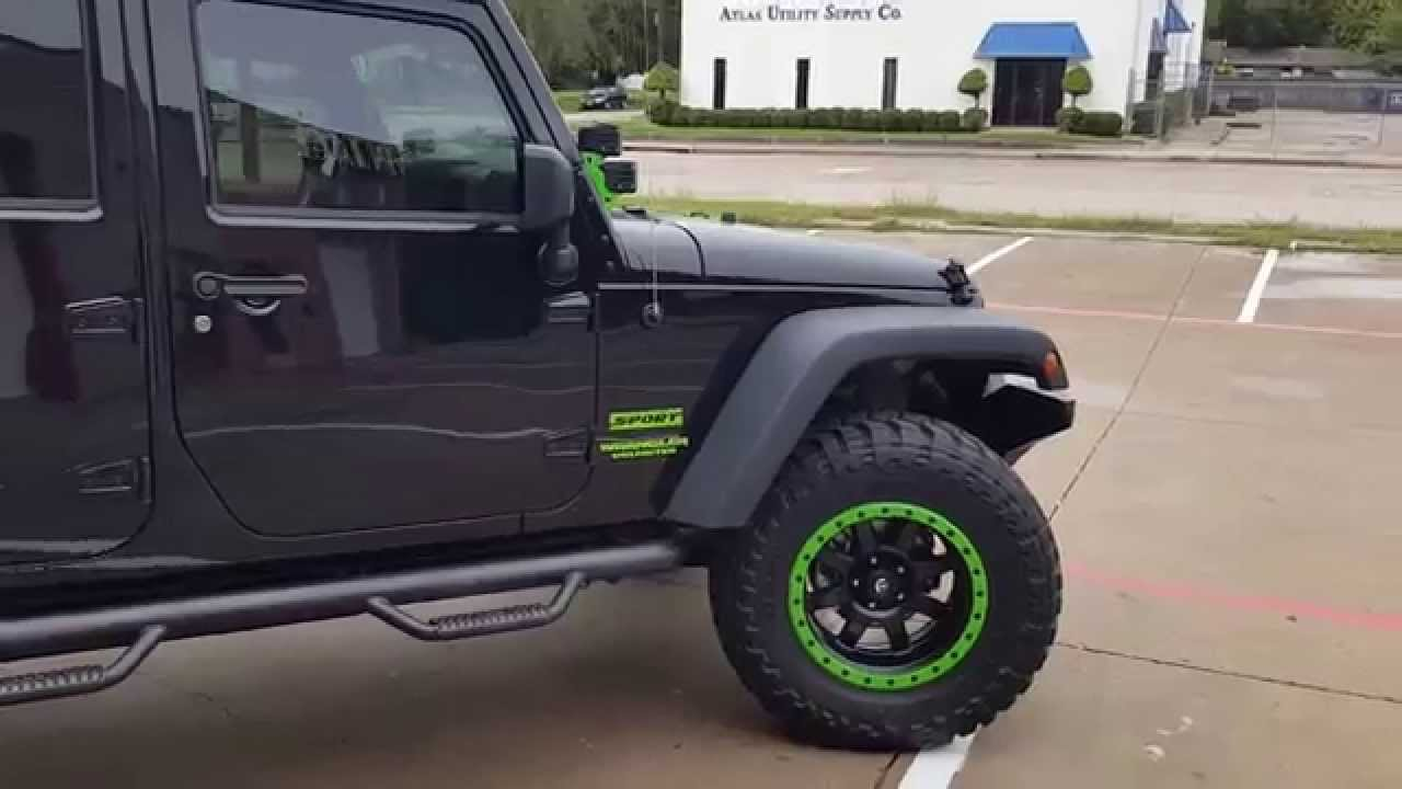 Lifted JK W/Lime Green Accents   YouTube