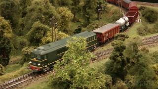 Beautiful French Modular Model Railway Layout with Cab Ride in HO Scale