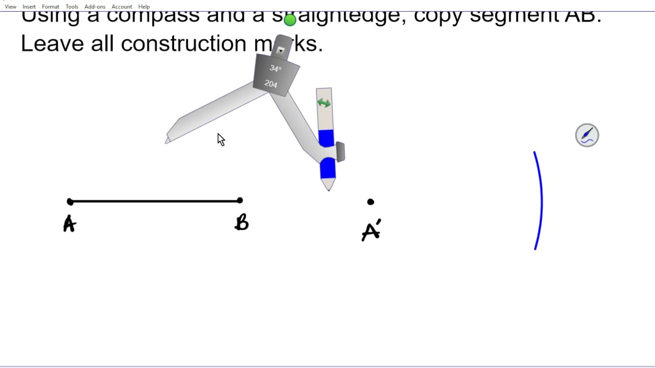 Geometry Constructions 1 1 How to Copy a line Segment Common Core Regents  NY steps
