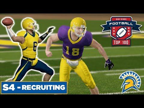 Season 4 High School Prospects + HS Highlights!  - San Jose State   NCAA Football 14  - Ep 55
