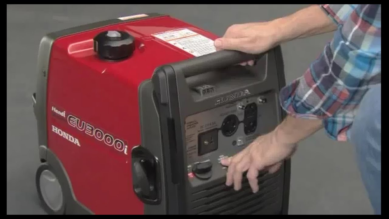 Honda EU3000i Handi Portable Generator Operation
