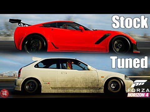 Forza Horizon 4: Stock vs Tuned! C7 ZR1 vs Big Turbo Civic EK Hatch! thumbnail