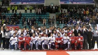 North Korea and South Korea form a joint ice hockey team to compete in the Olympics