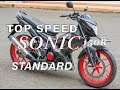TOP SPEED HONDA SONIC 150R (STANDARD)