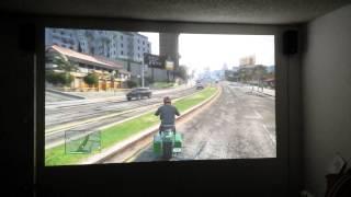 """Gta 5 gameplay on 85"""" screen optima hd20"""