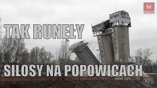 Wyburzanie starych silosów na Popowicach we Wrocławiu, wideo #dron z #drona #silosy #popowice