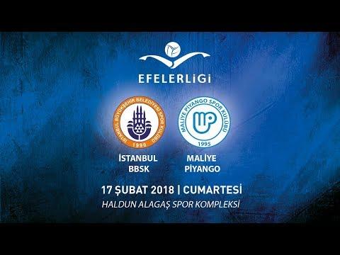 2017 -2018 / Efeler Ligi 20. Hafta / İstanbul BBSK 3 - 0 Maliye Piyango