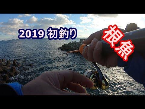 2019 初釣り 知多半島に根魚釣りに行ってみた#62