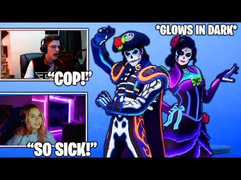 STREAMERS REACTS TO NEW *GLOWS IN DARK* Rosa & DANTE Skins! (Fortnite Moments)