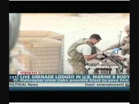 Crew Save Soldier With Grenade Inside His Body