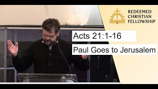 Acts 21:1-16: Paul Goes to Jerusalem - May 2, 2021