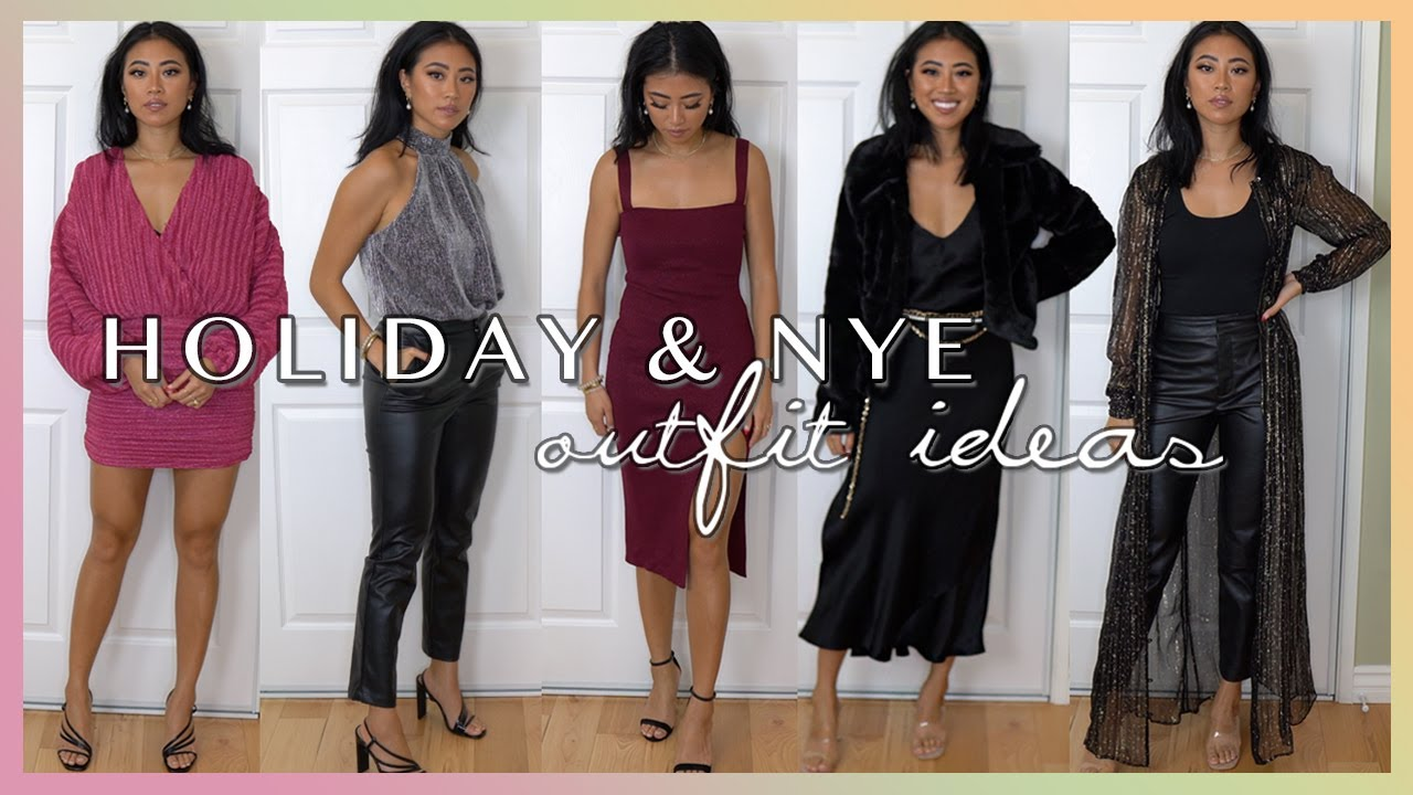 Holiday New Years Eve Outfit Ideas What To Wear This Winter Season Youtube