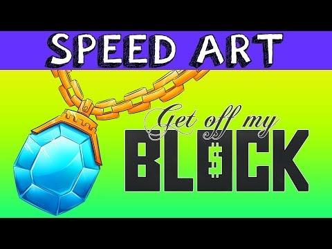 MINECRAFT RAP 'GET OFF MY BLOCK' SPEED ART (Chain)