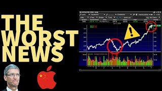 APPLE CUTS GUIDANCE - My Watchlist - The Stock Market Is Going To REACT