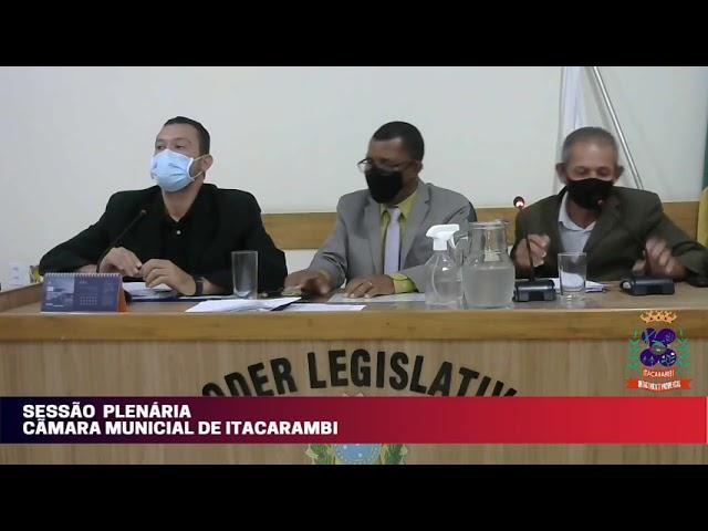 Câmara Municipal de Vereadores de Itacarambi MG Reunião realizada no dia 09/06/2021