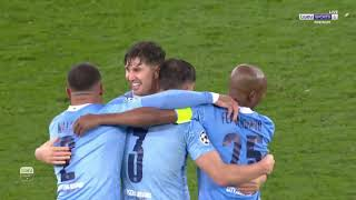 فرحة لاعبي مانشستر سيتي بالتأهل إلى نهائي دوري أبطال أوروبا