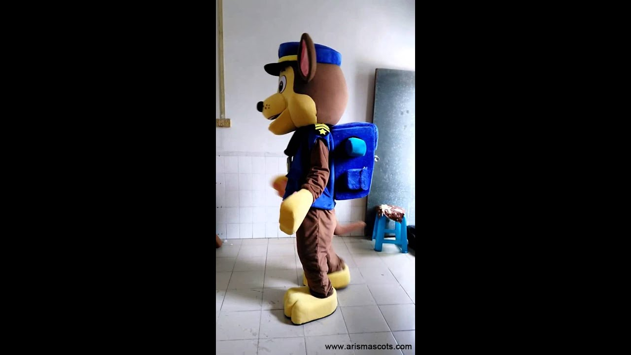 & Paw Patrol Mascot Costume for adults- Chase mascot costume - YouTube