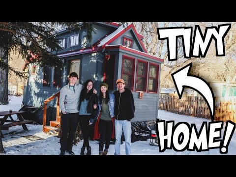 SLEEPOVER IN A TINY HOME!