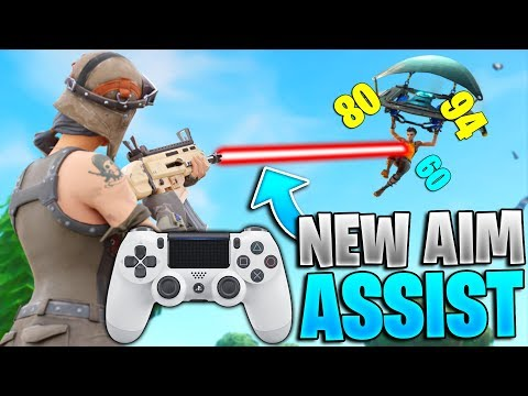 The NEW Aim Assist For Controller Fortnite Is WILD! (Fortnite Aim Assist Update - PS4 + Xbox)