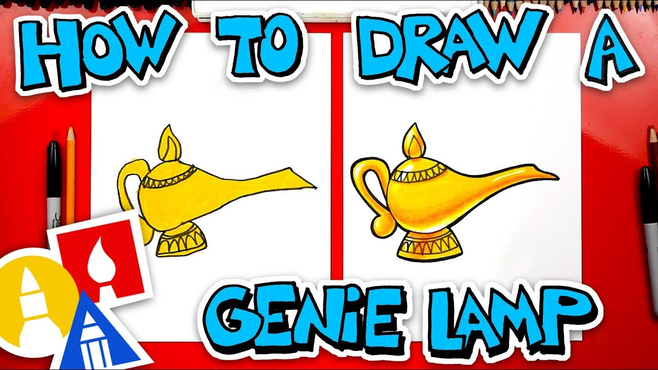 How To Draw A Genie Lamp