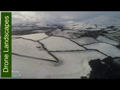 December Snow on the Isle of Man - Isle of Man by Drone