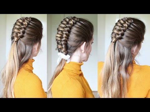 Half Up Half Down Infinity Braid Hairstyle