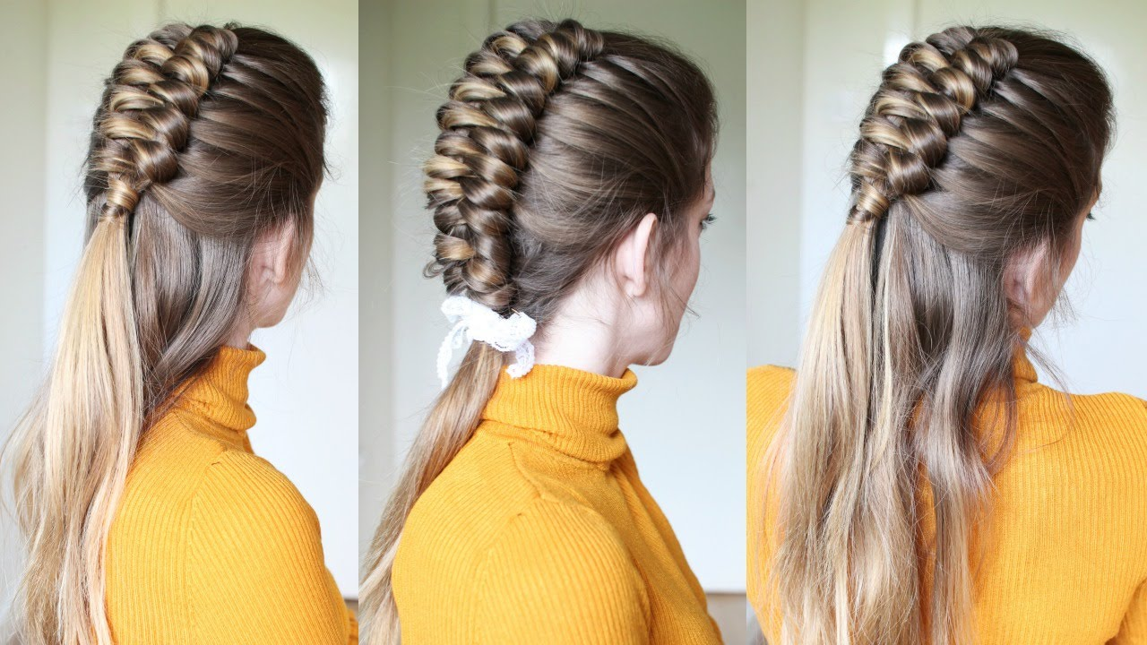 Half Up Half Down Infinity Braid Hairstyle Braids Hairstyles