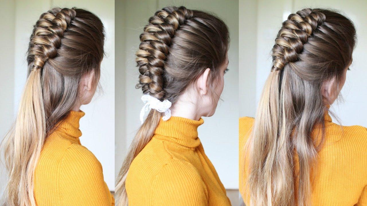 half up half down infinity braid hairstyle | braids hairstyles | braidsandstyles12