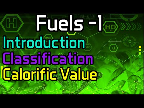 Fuels -1 Introduction, Classification, Calorific Value